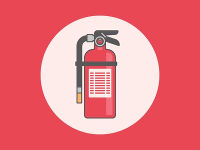 Fire Extinguisher illustrator vector flat icon illustration extinguisher fire