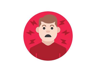 Prevent Crisis icon art vector illustration whoa scared crisis