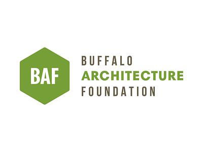 Buffalo Architecture Foundation Logo illustrator vector hexagon green brand logo architecture