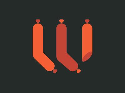 Sausage-letter W german logo typography type blackletter sausage
