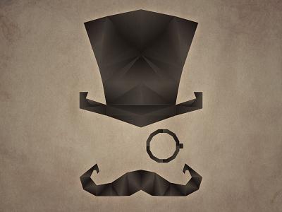Gentleman's Logo monocle logo illustration vector geometric poster illustrator photoshop band gentleman moustache