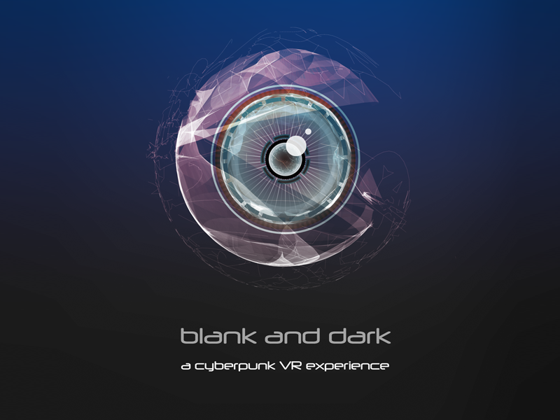Blank and Dark logo vector illustration cyberpunk game virtual reality vr