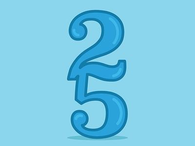 Twenty-Five vector minimal illustrator design