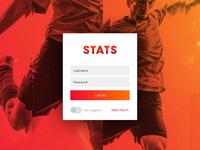Stats - iPad Log In Screen