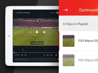 Stats - iPad Video Player Screen