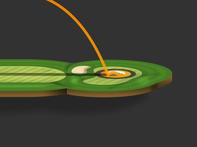 Golf Simulator Hole illustration ios golf vector mobile app mobile sports sketch ux ui