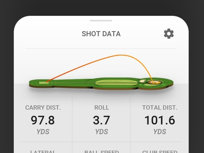 Golf Simulator Shot Data View golf mobile app mobile ios vector ux sketch sports ui
