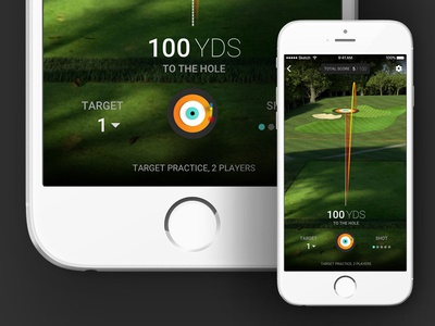 Golf Simulator Course View mobile app mobile golf ios vector ux sketch sports ui