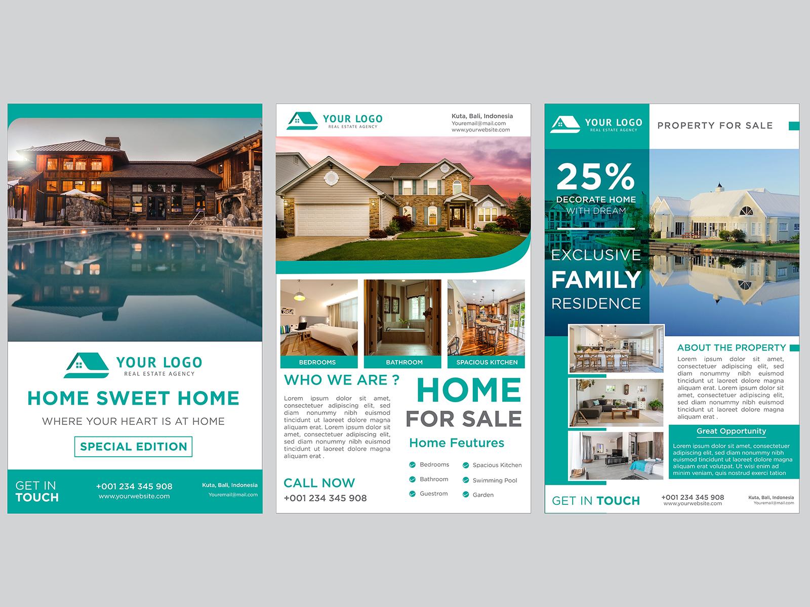 Banner Real Estate Set Templates Design Pack By Hustler On Dribbble