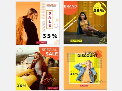 Social Media Marketing Fashion template instagram