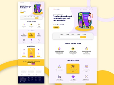 Domain & Hosting web Template psd web template hosting template uidesign website design domainhosting