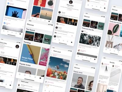 Social App UI Kits - Light Mode