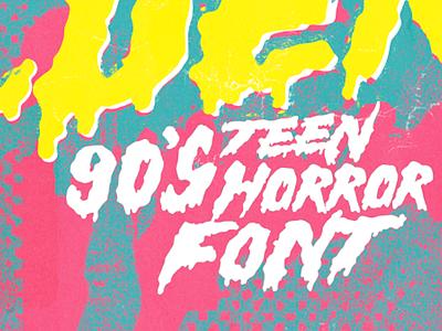 Hell Builder – 90's Teen Horror Font 1980s 1990s