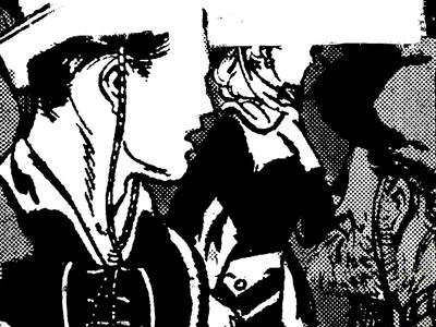 LL Cool BC catalog halftone collage xerox retro cowboys