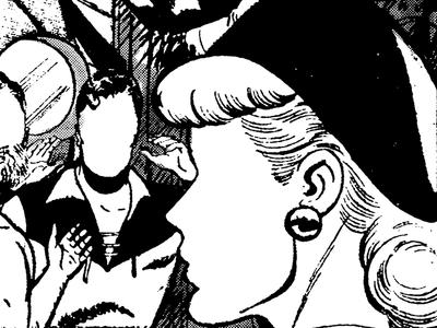 Page 5 (2018-Q3) comic retro profile photocopy halftone cowboy western woman