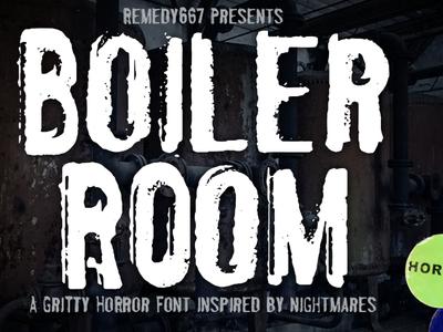 Boiler Room design font horror
