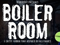 Boiler Room design font horror