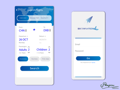 SKYAVIATION | APP STORE UI DEISIGN | IOS