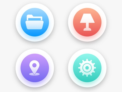 colorful Web Interface icon