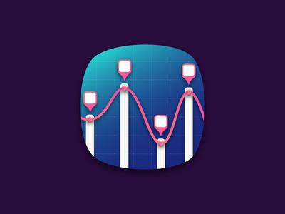 graph app icon design