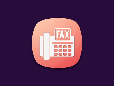 fax app icon design