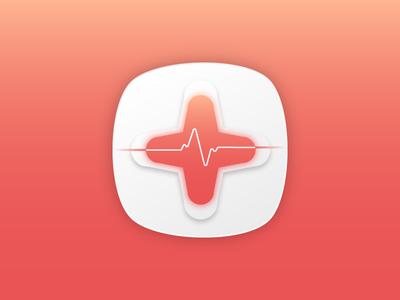 health heart beat plus app icon design