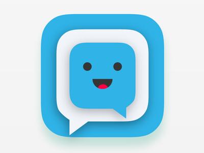 Creative Friend Chat App Icon
