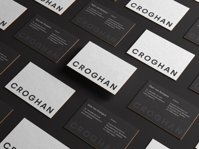 Croghan identity design agency business cards business card design logo designer branding design agency branding agency branding design business card typography graphic design design branding and identity brand identity brand design branding logo design logotype logo visual identity