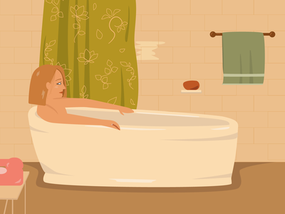 The Royal Tenenbaums anderson film girl vector illustration flat