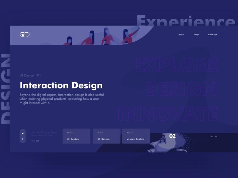 Creative Portfolio Website web branding ui ux illustration minimal design adobexd creative webdesign