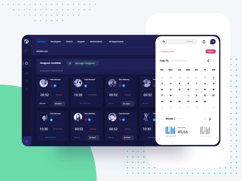 HR Portal Web App for Employee Tracking Abstract smarthome mobile app design illustration web ui ux design adobexd creative app