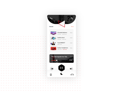 Youtube Podcast mode design clock app smarthome ux ui app adobexd minimal illustration creative design branding