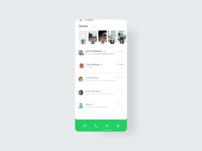 WhatsApp redesign clock app smarthome ux app adobexd minimal illustration creative design branding whatsapp