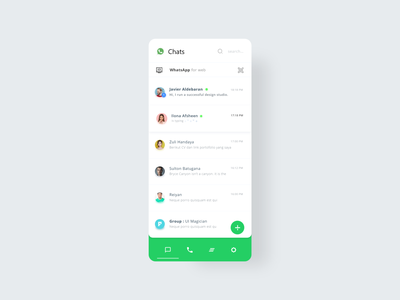 WhatsApp redesign mobile app design smarthome ui ux app adobexd minimal illustration creative branding