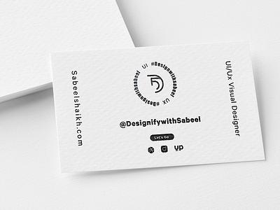 Business card Design With Slate Finish typography illustration minimal design businesscard branding app creative logo ui ux