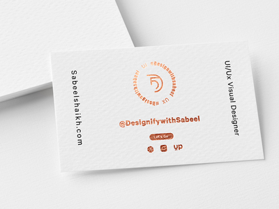 Business card Design With Gold Finish icon ui design businesscard logo ux minimal illustration app creative branding