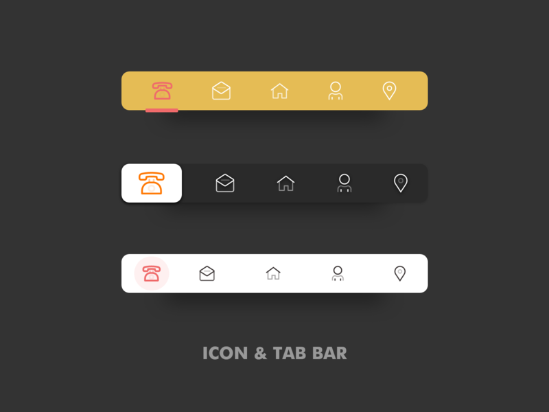 Tab Bar & Icon Design Ui kit