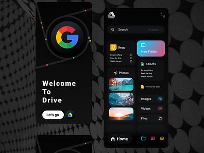 Google drive instagram darkmode logo clock app smarthome adobexd ux design ui app minimal illustration creative branding