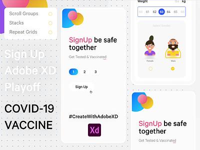 Sign Up page web mobile app design adobexd design ux ui minimal illustration creative branding