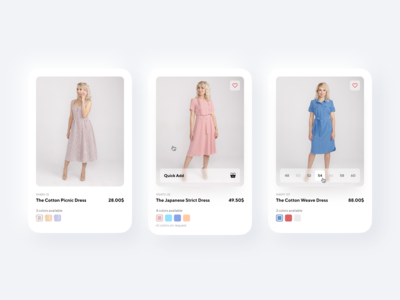 Dresses — Product Card Design