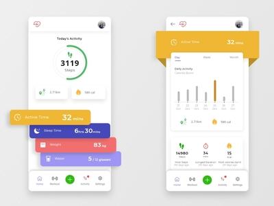 Fitness app concept - Adobe XD