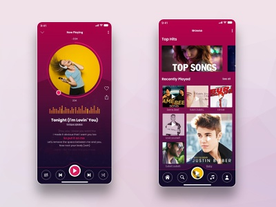 Music app vibes artwork artist playlist iconography music lover modern design genre uxdesign ux songs music player music app ui design conceptdesign cleandesign clean app adobexd