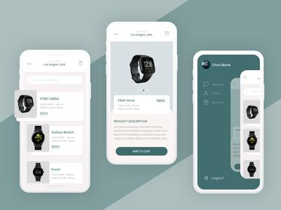 E-Commerce Mobile UI | Smartwatch marketplace