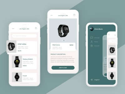 E-Commerce Mobile UI | Smartwatch marketplace uipresentation presentation drawer smartwatch healthcare e-commerce ecommerce marketplace challenge dailyui vector artwork uxdesign ux design conceptdesign cleandesign clean app adobexd