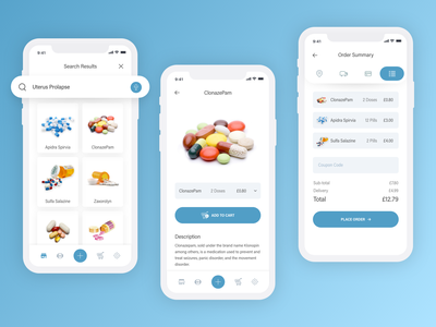 Healthcare - Medicine App cart buy medicine app order process purchase medicine medical artist ui healthcare artwork uxdesign ux design conceptdesign cleandesign clean app adobexd