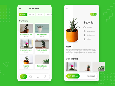 Plant Tree App save earth green oxygen people challange enviroment concept plants trees artist ui artwork uxdesign ux design conceptdesign cleandesign clean app adobexd