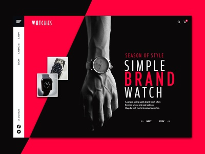 Watch Store online products people store watches shop luxury brand waterproof watch artist ui uxdesign ux design conceptdesign cleandesign app clean adobexd