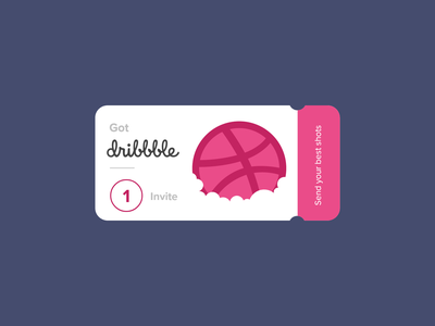 Dribbble Invite clean conceptdesign cleandesign adobexd app direction creative agency development clean design logo branding ux ui ui design invite dribbble invitation dribbble invite