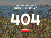 Page 404, where's Wally ))