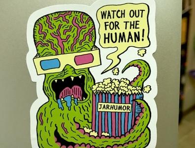 Alien Monster Movie (Sticker)